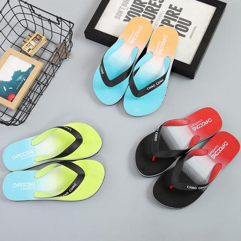 bc30cf3b6b7f KLV 40 41 42 43 44 Size Men Flip Flops EVA Gradient Color Prints Shower  Sandal Summer Casual Slippers Leather Boots Cheap Boots From Shoesbuddy