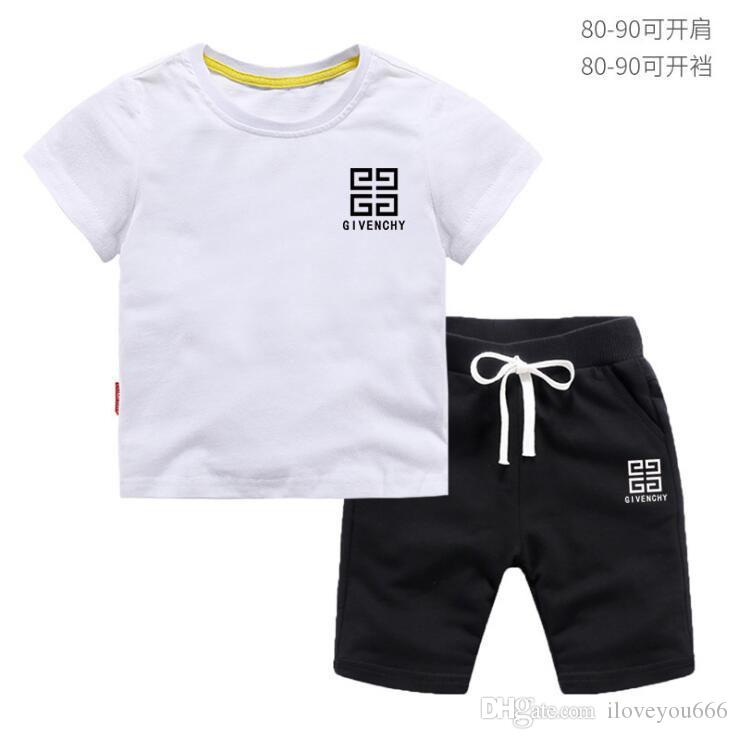 30ecc5405 2019 2019 Sale HOT 2T 8T New Spring Luxury Logo Designer Baby Boy'S T Shirt  Pants Two Piece Suit Kids Brand Children'S Cotton Clot From Iloveyou666, ...