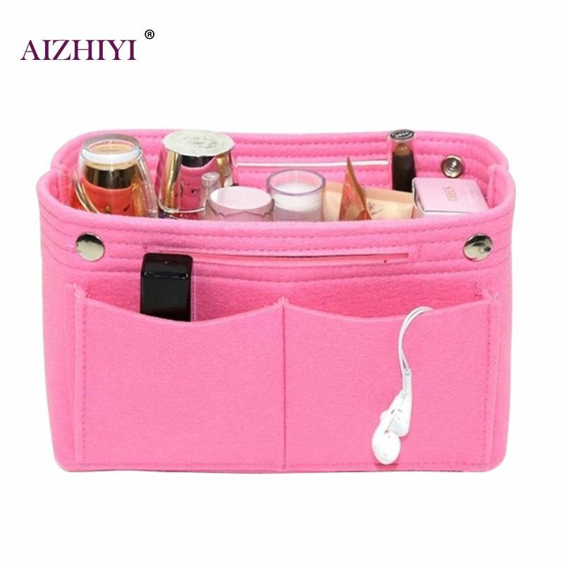 Felt Travel Makeup Organizer Storage Bag Portable Cosmetic Handbag Clutch