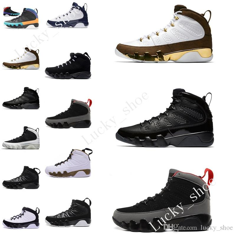 Cheap New 9 basketball shoes Men blue space Jam Anthracite Copper Statue Barons Suede Fabric 9s IX Spring Sports Tennis Mens Sneakers