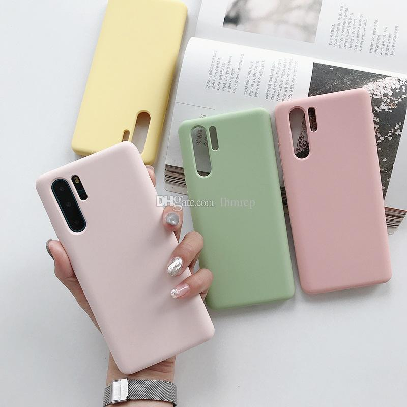 The new Huawei P30 silicone mobile phone case all-inclusive P30Pro creative silicone soft shell P30 drop-proof shell. DHL free shipping