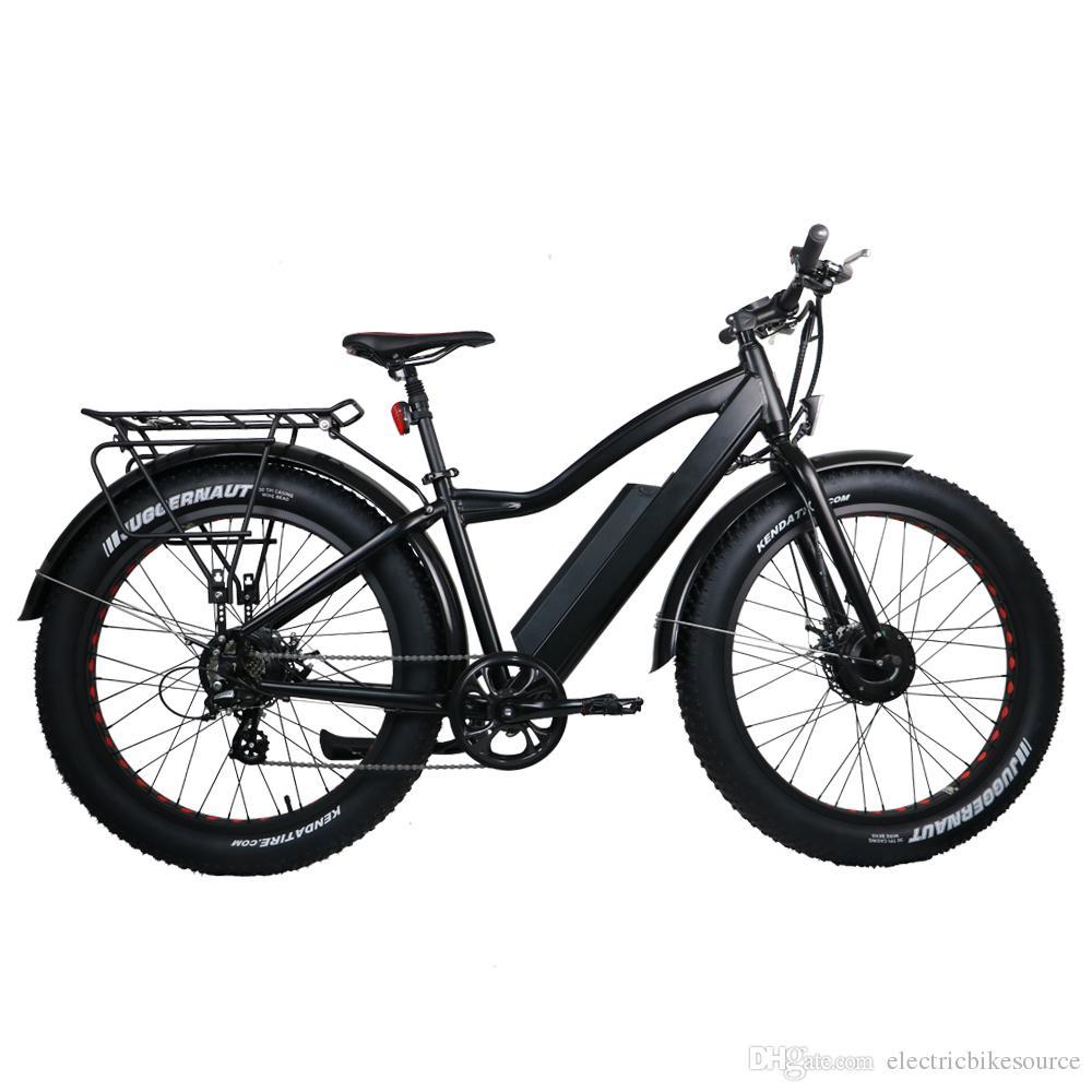 Electric Fat Bike >> 2019 7speed Electric Fat Bike 36v 11ah Lithium Battery 2 Wheel Drive