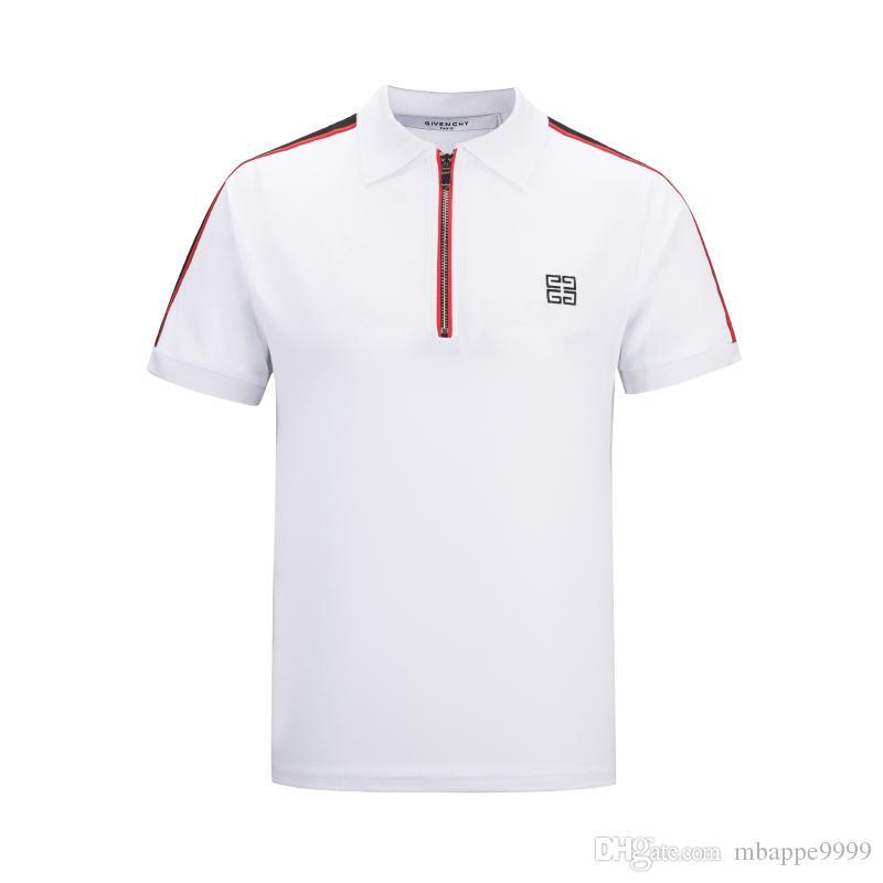 745fa5be8 Compre Mm 2019 Nova Juventude Marca Camisas Polo Logotipo Bordado Homens De  Manga Curta Camisas Casuais Do Homem Sólida Bowling Pólo Camisa De  Mbappe9999