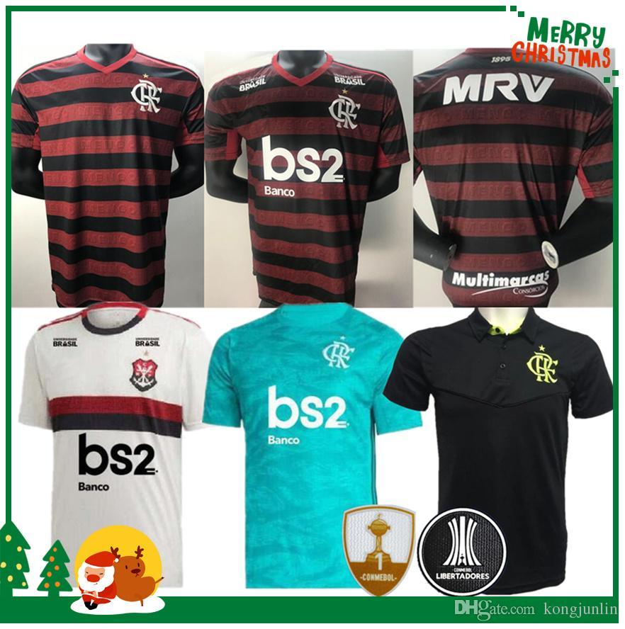 dc3e2bf172 Compre 19 20 Flamengo Jersey 2019 2020 Flamengo GUERRERO DIEGO VINICIUS JR  Camisas De Futebol Flamengo GABRIEL B Esportes Futebol Homem Mulher Camisa  De ...