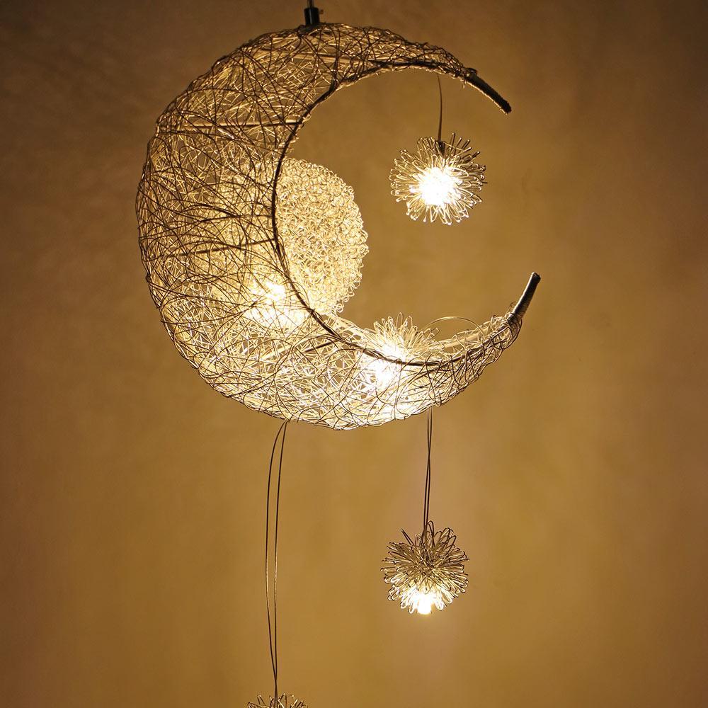 Chambre De Plafond Pour Maison Pendentif Lampe Moderne Lustre Suspendue Décorations Moon Noël La Enfants Luminaire Lampes Star e29IYWEDH