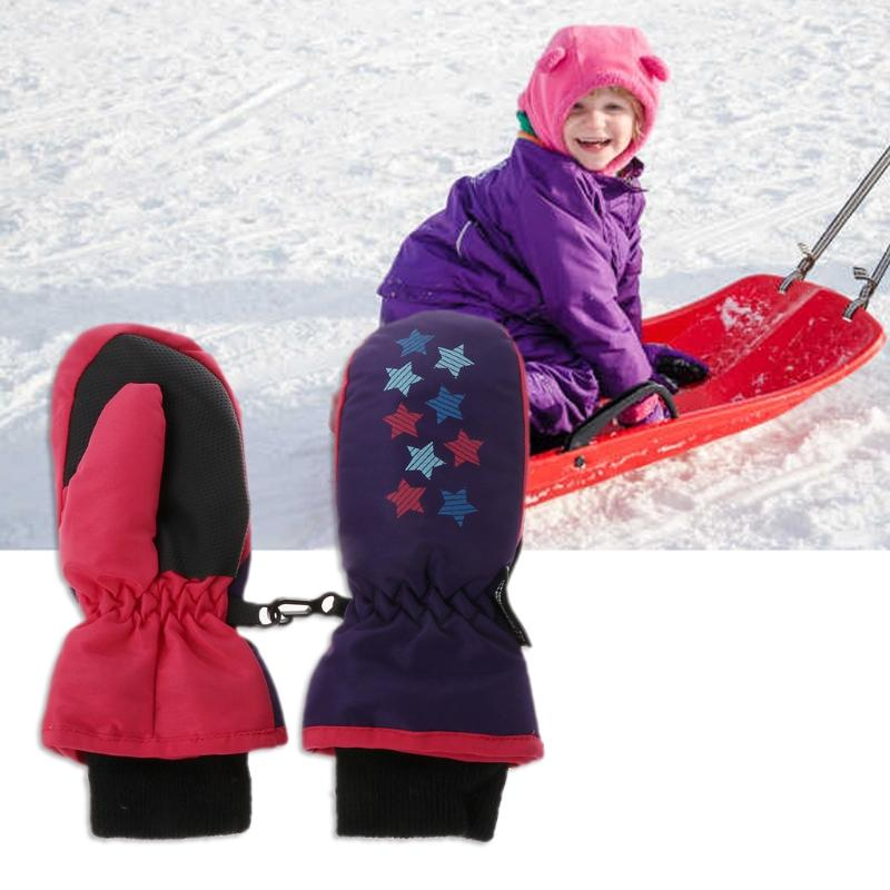 3a38d37c9 2019 New Winter Mittens For Baby Waterproof Mittens Thickening Warm Ski  Gloves Outdoor Boys Girls Children Kids Snowboard Gloves M/S From Yarqi, ...