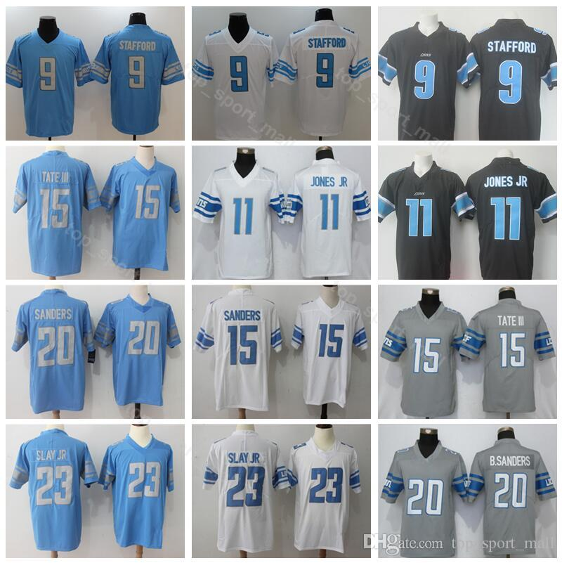 uk availability ac0f7 b9cd8 Football Detroit Lions 11 Marvin Jones JR Jersey Men Vapor 9 Matthew  Stafford 15 Golden Tate 20 Barry Sanders 23 Darius Slay Jr