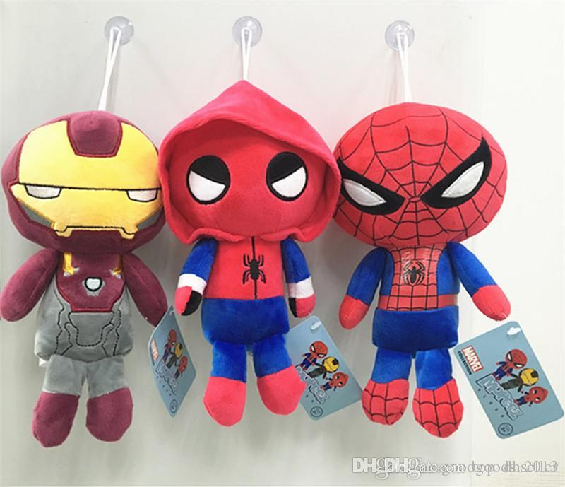 Marvel Movie Superhero Homecoming Plush Doll Toy for Kid's Gifts Cartoon Spiderman Iron Man Plush Toys D0518