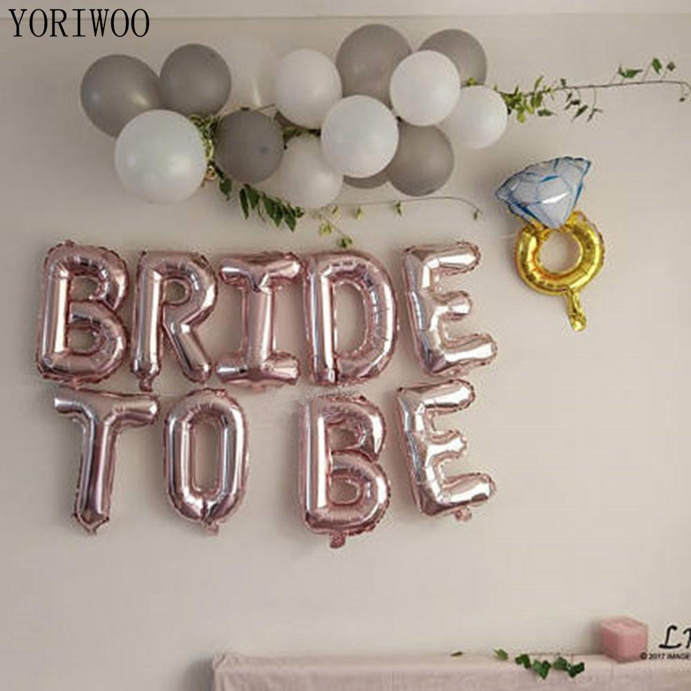YORIWOO 16inch Rose Gold Bride To Be Ballons Foil Letter Balloons Wedding Bachelorette Party Decorations Hen Party Accessories