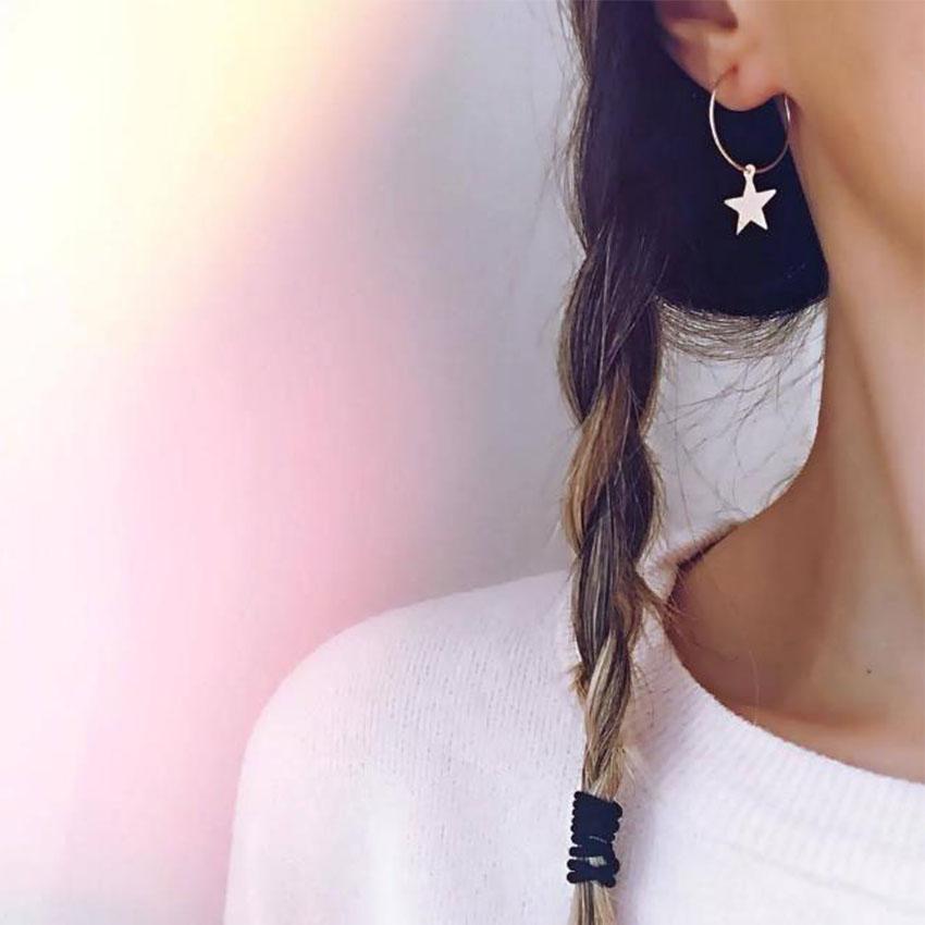2018 Simple Boucles d'Oreilles En Or Etoiles pour Femmes Boucles D'oreilles brincos Oorbellen boucle d'oreille pendientes bijoux
