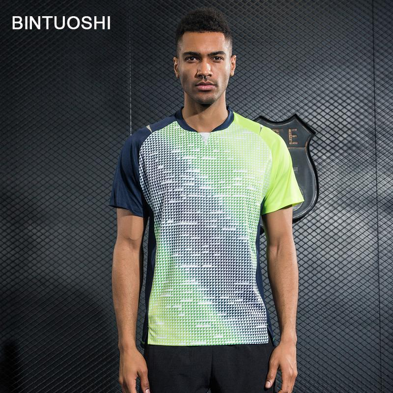 ab44cbb148a 2019 BINTUOSHI 2018 New Mens Tennis Shirts Badminton T Shirts Table Tennis  Clothing Breathable Jersey Quick Dry Sports Soft Tops From Biwanrou