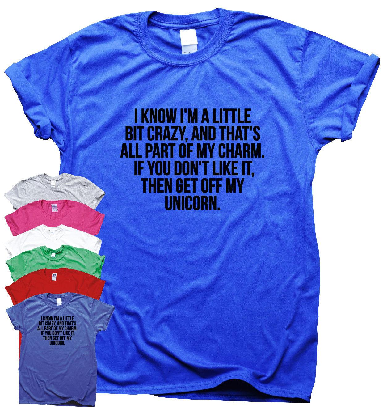 2a7922630e Get Off My Unicorn funny T shirts mens humour gift womens sarcastic slogan  top Funny free shipping Unisex Casual Tshirt top