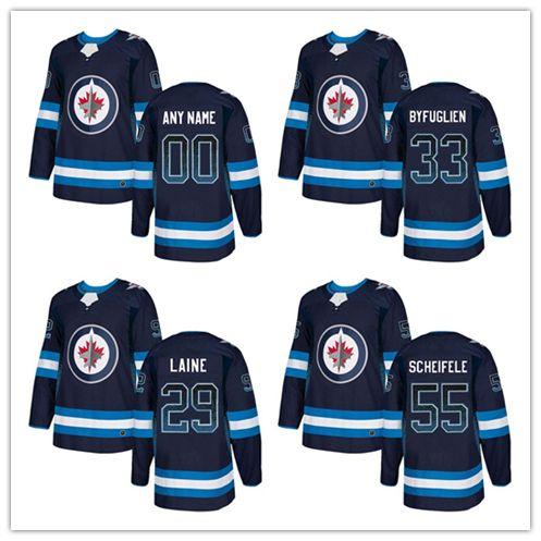 678725b65 2019 Mens Winnipeg Jets  55 Mark Scheifele  29 Patrik Laine  33 Dustin  Byfuglien Navy Blue Home Drift Fashion Stitched Hockey Jersey From  Worldjerseys
