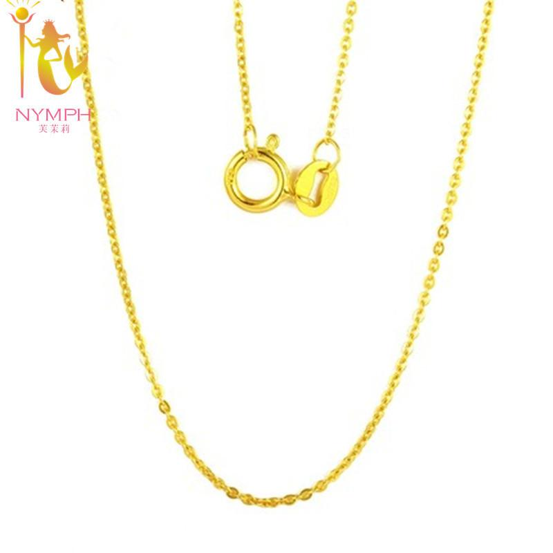 Nymph Genuine 18k White Yellow Gold Chain 18 Inches Au750 Cost Price Necklace Pendant Wendding Party Gift For Women[g1002] Y19051603
