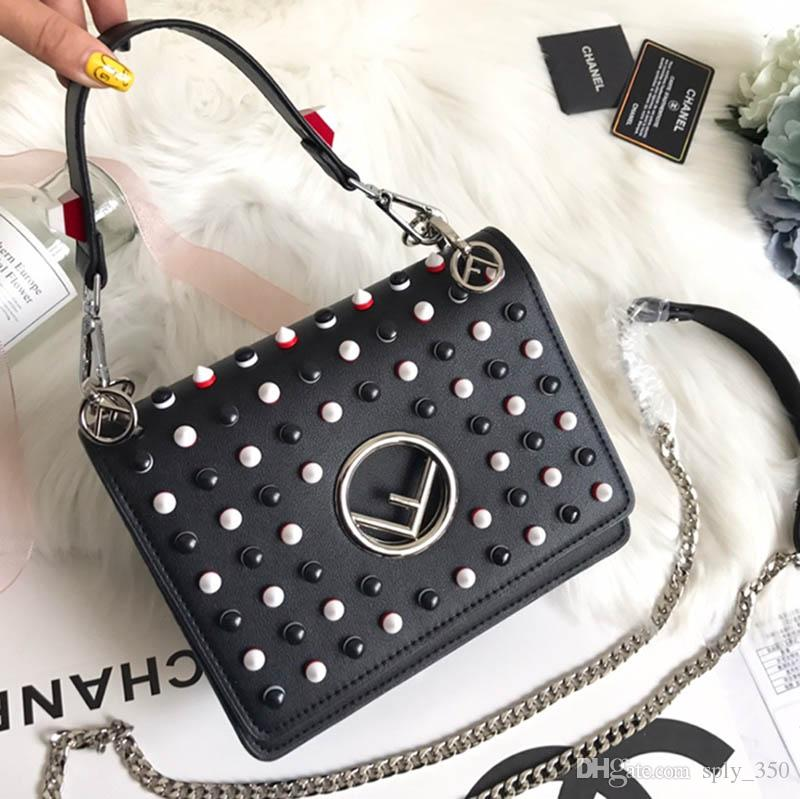 e79ce6cb80de8b KAN I F Small Shoulder Bags Womens Fashion Black Red Leather Luxury Handbags  Lady Designer Cover Bag Chain Casual Totes With Box Womens Handbags Handbags  ...