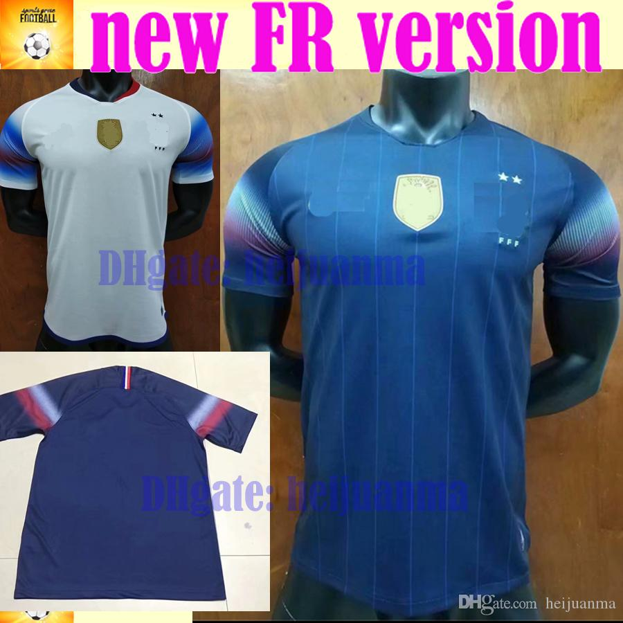 competitive price b16a4 2bbf2 2019 MBAPPE Griezmann FR soccer Jersey PAYET DEMBELE MBAPPE GRIEZMANN KANTE  2018 2019 national team football shirts COMAN AWAY white