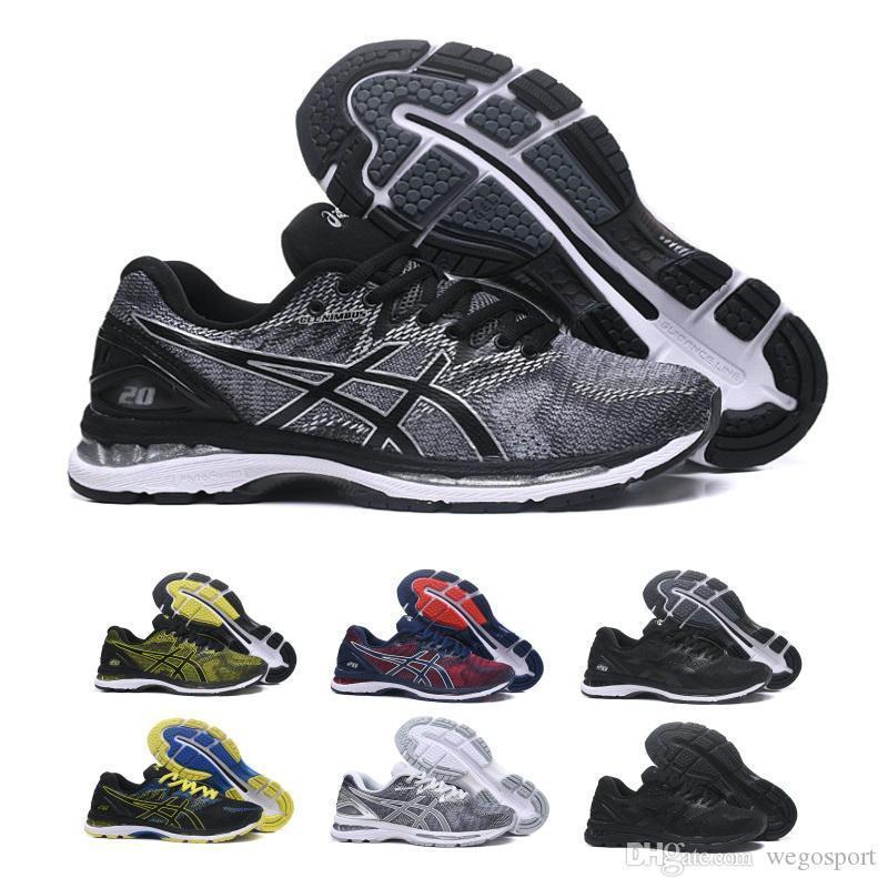 Compre 2018 Novo Design Pede GEL Nimbus 20 Originais Mens Tênis De Corrida  Vermeil Verde Oliva T800N 4949 Tênis Esportivos Maratona Instrutor De ... 9af765f473b20