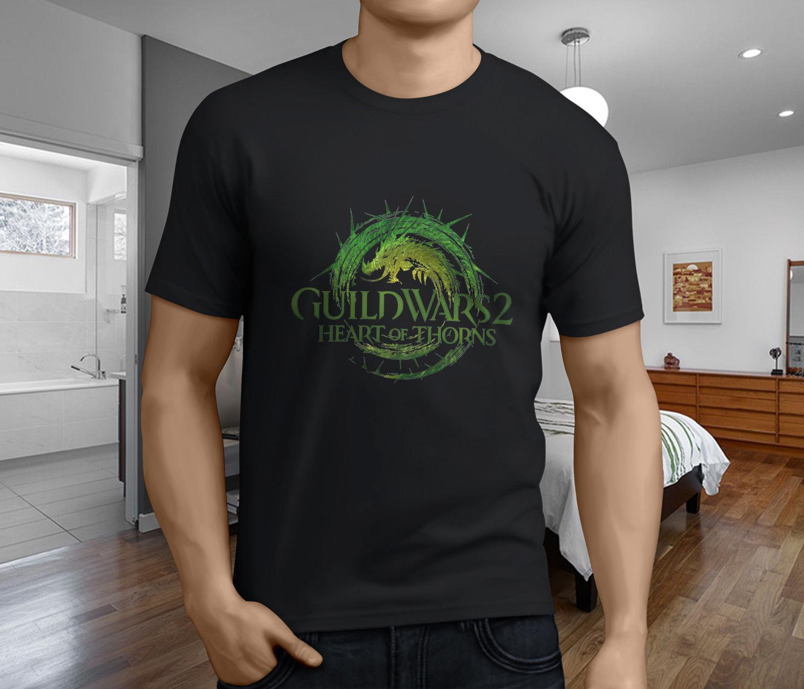 New Popular Guild Wars 2 Mens Black T-Shirt S-3XL 2018 New Short Sleeve Men  T Shirt 100% Cotton Family Top Tee