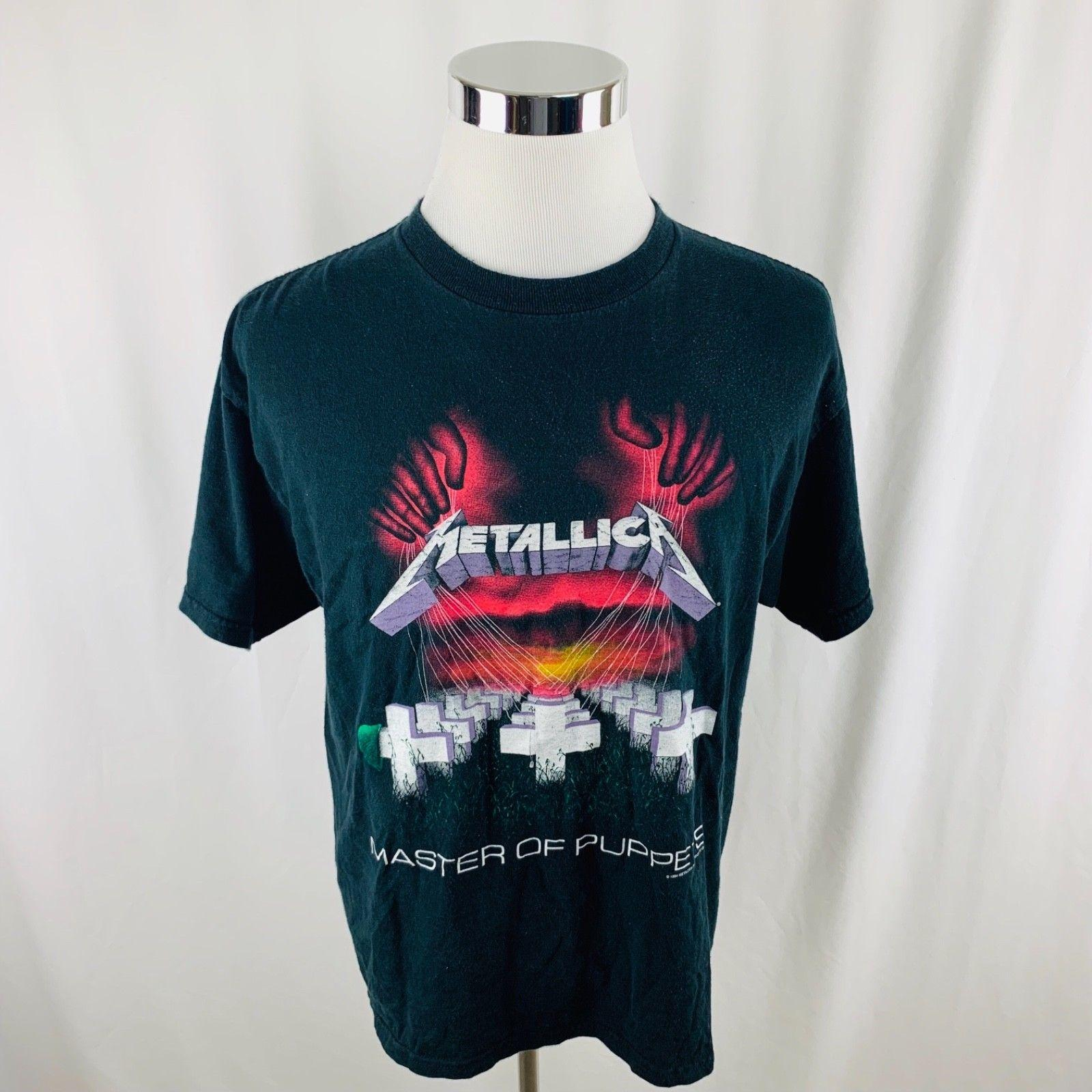 Vintage 90s 1994 Metallica Master Of Puppets Tour Band Tee T Shirt