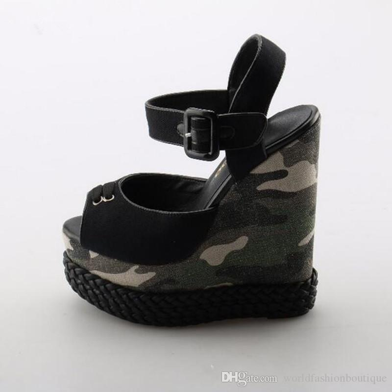 cb6cb5ec38035 New Brand Sexy Peep Toe Platform Wedge Sandal for Woman 2018 ...