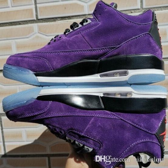1f8b04d0bf6 2019 Mens Jumpman 3s Basketball Shoes Retro Cheap Aj3 Purple Grape ...