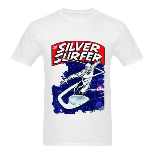 50103cb2f0 Silver Surfer Tee White Tshirt New Men s T-Shirt Size S to 3XL Men s  Clothing T-Shirts Tees Men Hot Cheap Summer Top Tee