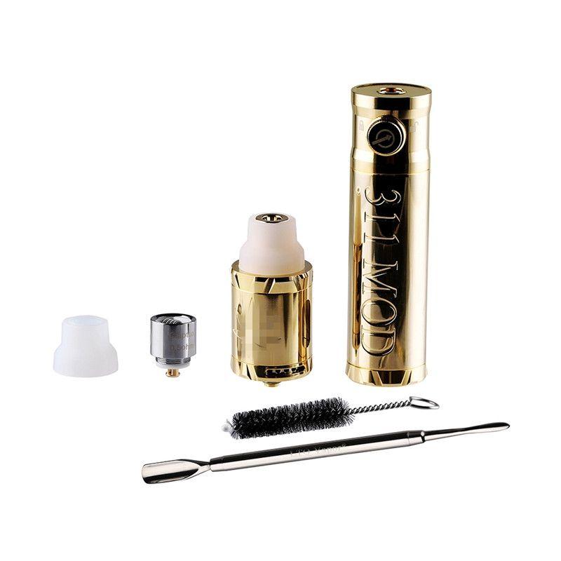Original LTQ Vapor 311 Kit Com Mod Atomizador seco Herb Wax vaporizador Dispositivo Vape Pen Kits da tubulação de água Adaptador Escova Dab bobina de cabeça