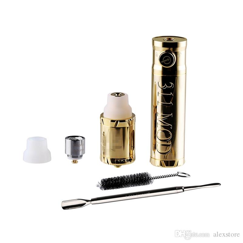 Original LTQ Vapor 311 Kit With Mod Atomizer Dry Herb Wax Vaporizer Device Vape Pen Kits Water Pipe Adapter Brush Dab