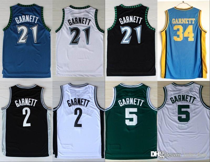410347458823 2019 NCAA New Minnesota 21 Kevin Garnett Jersey Timberwolves 5 Fashion Rev  30 2 Shirt Uniform Black Blue White Green Pure Cotton From Tobe Best