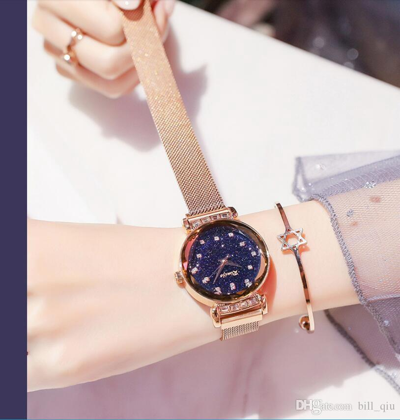 Star face lady watch 2018 new fashion trend ulzzang waterproof quartz watch