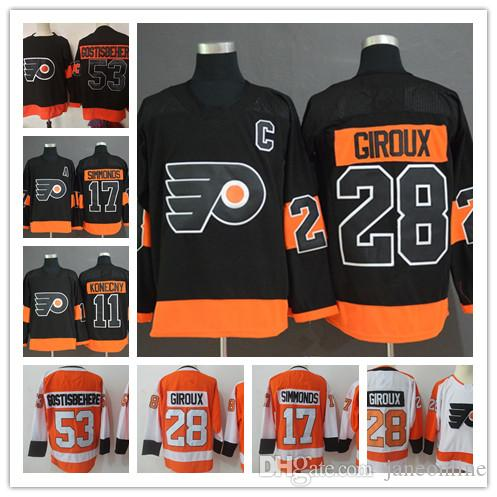 4f2ee05b4 2019 Philadelphia Flyers Jerseys Hockey 28 Claude Giroux 53 Shayne  Gostisbehere Travis Konecny 17 Wayne Simmonds 93 Jakub Voracek Jerseys Black  From ...