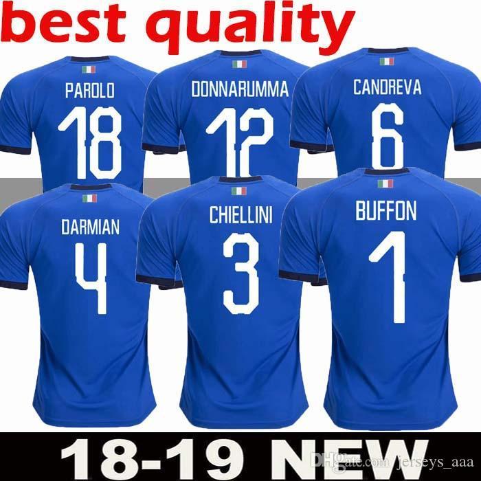 711a06752 2019 2018 2019 World Cup Italy Home Blue Soccer Jerseys Italian VERRATTI  Totti 10 PIRLO 18 Buffon 1 Football Jerseys Uniform Adult From Jerseys aaa