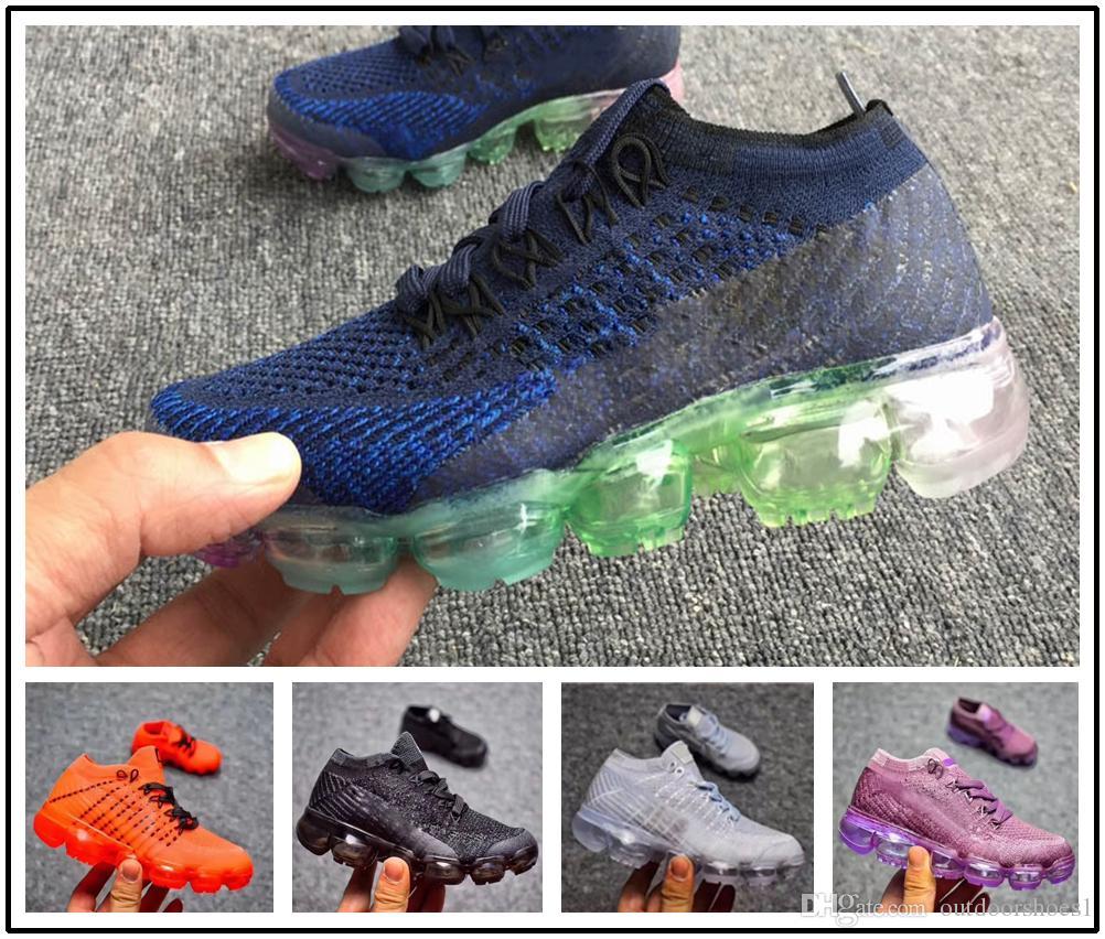 dc2034c9f2 Acheter Nike Air Max Airmax Vapormax 2018 Infant Enfants Enfants Chaussures  De Course Maille Chaussures De Sport En Plein Air Enfant En Bas Âge  Formateur ...