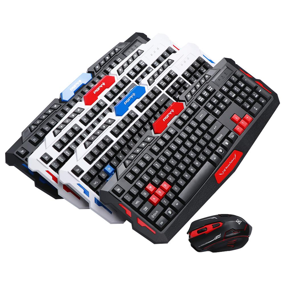 2.4GHz Wireless Keyboard Mouse Combo Set With Mouse Pad Gaming Gamer USB Optical Mice Kit Multimedia For Computer PC Desktop