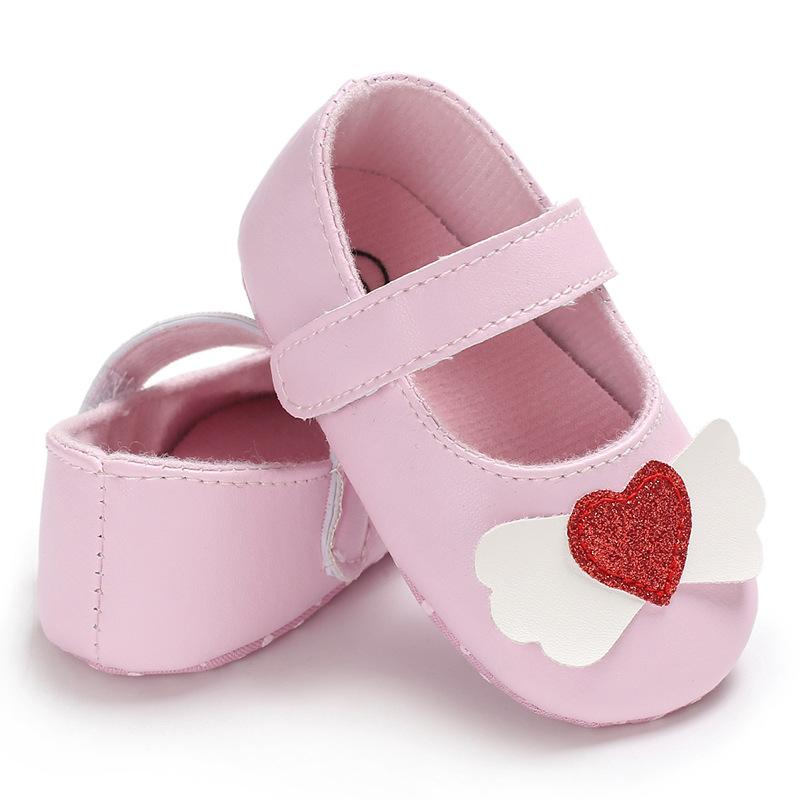 128372087 2019 Newborn Infant Baby Girls Crib Shoes Soft Sole Anti Slip Sneakers  Heart Bowknot Baby Booties PU Leather For 0 12 Months From Fkansis