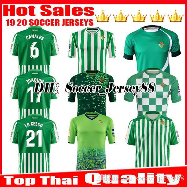 81c5f2c96f5 2019 LIMITED EDITION CHECKERED 2019 2020 REAL Betis Soccer Jersey HOME Away  18 19 JOAQUIN MANDI BARTRA TELLO INUI CANALES Jerseys FOOTBALL SHIRTS From  ...