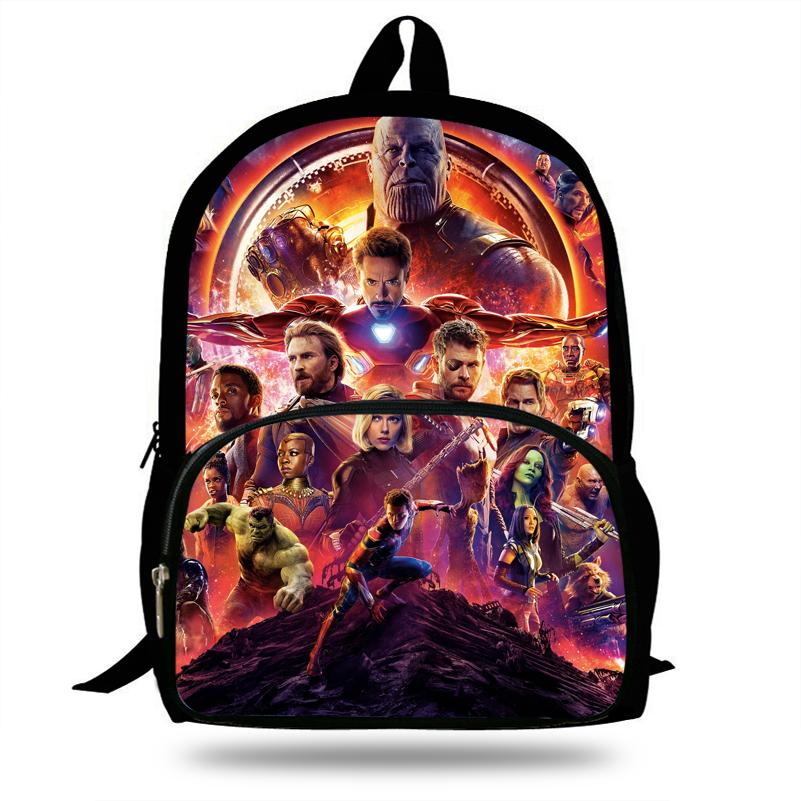 7e6191bb2fba 16inch Mochila Marvel Avengers School Bags Boys Cool Avengers Backpack For  Teenagers Bookbag Girls Travel Bag Children Y18120601 Cheap Kids Backpack  ...