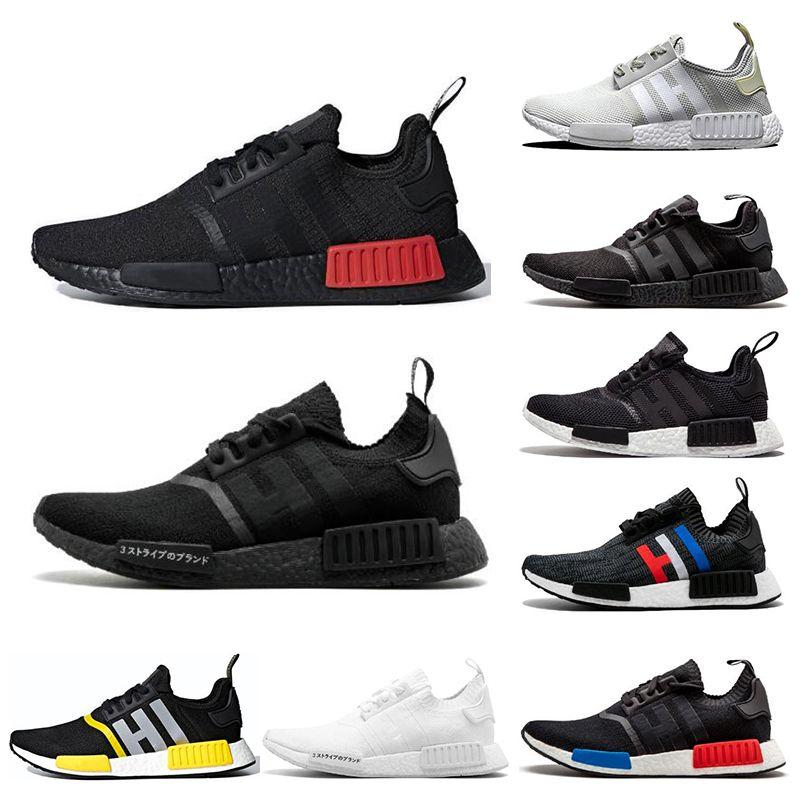 Adidas nmd R1 hommes chaussures de course de race Japon triple blanc noir Og crème Oreo camo mens formateurs femmes sport baskets taille 36 45