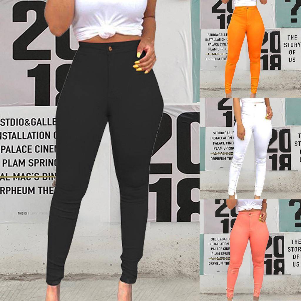 Low Waist Slim Jeans 2019 Women Casual Slim Stretch Trousers Female Long Sexy Pencil Jeans Pants L0823