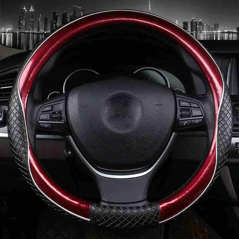 3d73144bc2e1 Case 3D Sport Car Covers Micro Fiber Leather Two Tone Steering Wheel Case  Auto Interior Accessories Black Blue Designer Steering Wheel Covers  Disposable ...
