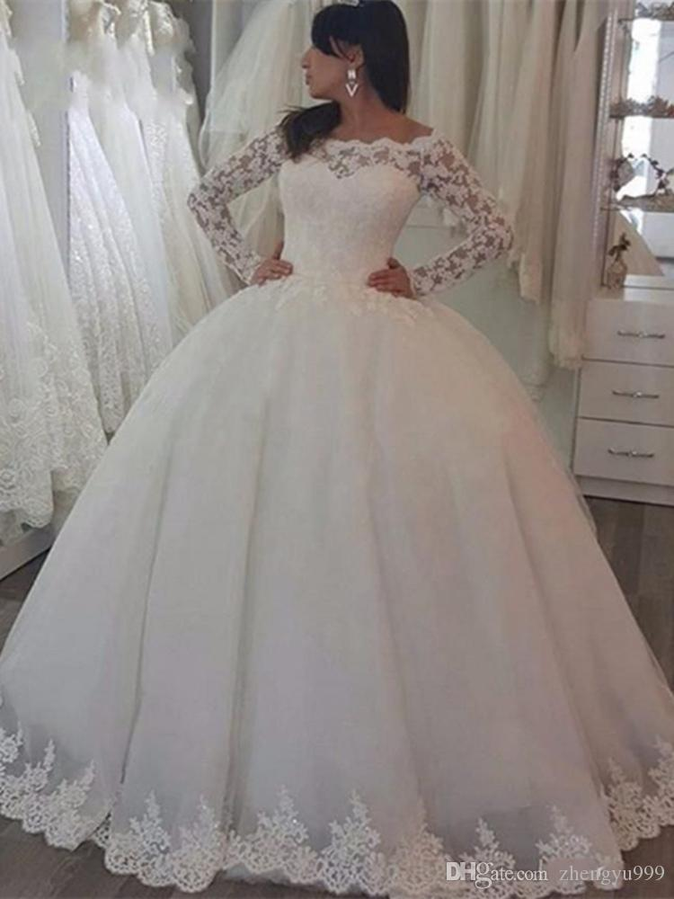 Royal Ball Gown Wedding Dresses Sheer Neck Sleeveless Appliques Beaded Tulle Plus Size Wedding Gowns Queen Bridal Dresses