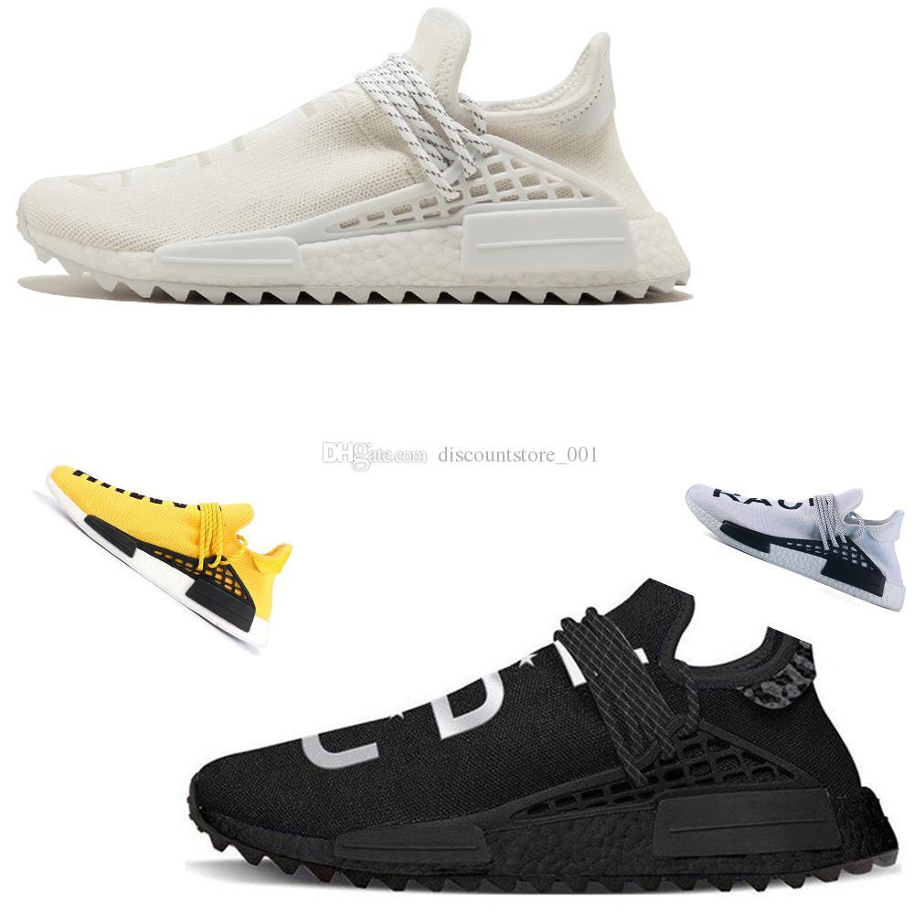 b9d3fd8d3 2019 Human Race Hu Trail Pharrell Williams Men Running Shoes Nerd Black  Cream Holi Mens Trainers Women Designer Sports Runner Sneakers Size 5 12  From ...