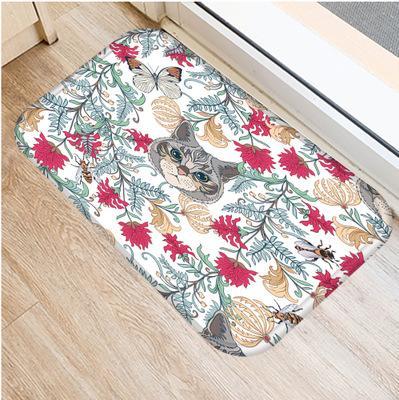 Großhandel Moderne Einfache Flanell Teppich Blatt Blumen Katze ...