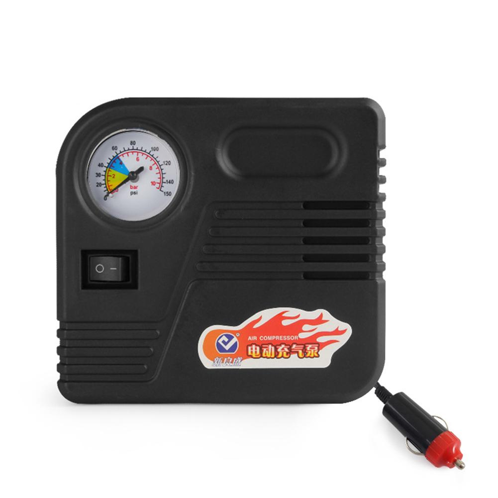 Auto Electric DC 12V Cars Plastic Black With Lighter Accessories 150PSI Emergency Universal Tire Inflator Air Compressor Pump
