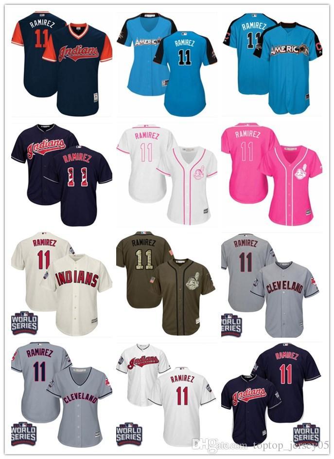 739921e7 2018 top Cleveland Indians Jerseys #11 Jose Ramirez Jerseys  men#WOMEN#YOUTH#Men s Baseball Jersey Majestic Stitched Professional  sportswear