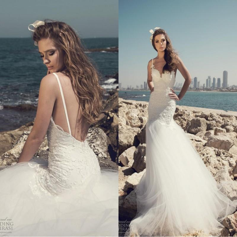 7d803817ec 2019 Elegant Julie Vino Lace Wedding Dresses Spaghetti Straps Backless  Tulle Sexy New Bridal Gowns Custom Made Wedding Party Halter Mermaid  Wedding Dresses ...