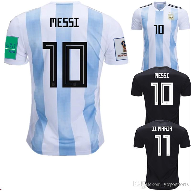 new concept 4feb8 c8020 World Cup 2018 Argentina Soccer Jerseys Messi Dybala Kun Aguero Futbol  Camisa Football Camisetas Shirt Kit Maillot
