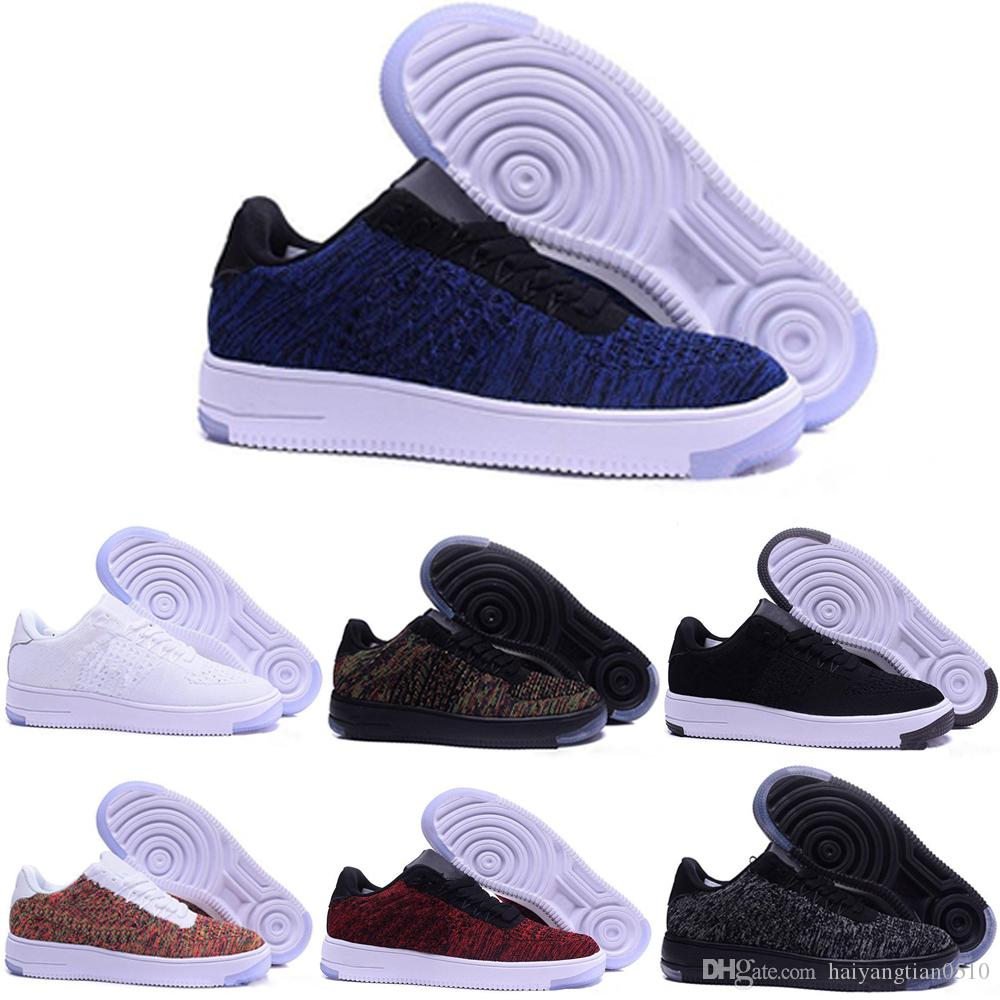 premium selection af4b5 a174b Acquista Nike Air Force 1 Af1 Flyknit 2019 Nuovo Arrivo One 1 Dunk Scarpe  Tutto Nero Bianco Uomo Donna Sport Skateboarding High Low Cut Wheat Brown  Scarpe ...