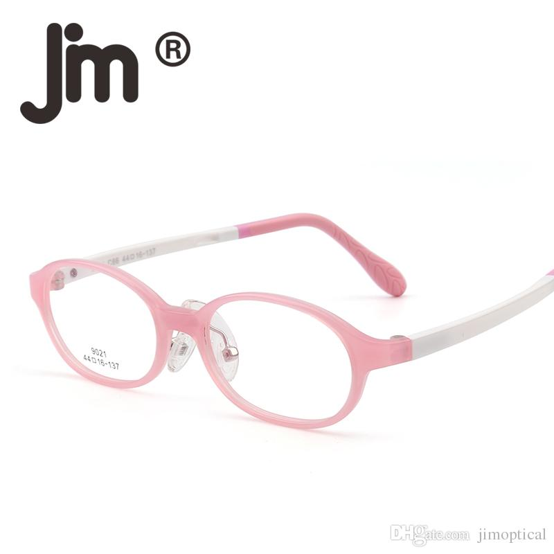 d746d8f2c197 2019 Kids Teens Eyeglasses Optical High Quality Durable TR Frame Glasses  For Girls Boys Non Prescription Clear Lens From Jimoptical