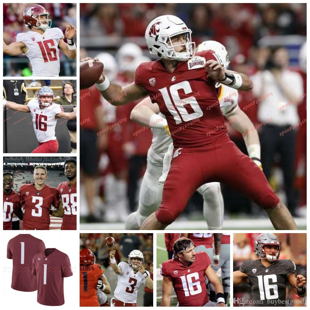 2019 Custom NCAA Washington State Cougars WSU Jerseys 3 Tyler Hilinski 4  Luke Falk 23 Gerard Wicks 10 Parker 11 Drew Bledsoe Jerseys From  Buybestgoods 44474a1db